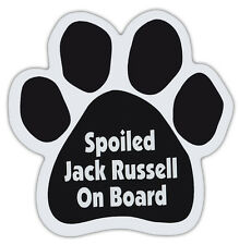 Dog Paw Shaped Magnets: Spoiled Jack Russell On Board (Terrier) | Dogs, Cars
