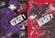 DARKER THAN BLACK tomes 1 et 2 Nokiya manga PANINI français SERIE COMPLETE