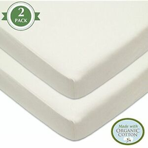 American Baby Company Knit Fitted Crib Sheet made with Organic Cotton, Natural