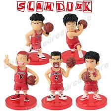 Cute! Set of 5pcs Slam Dunk Basketball Players 7cm-8cm PVC Figure On Base Loose