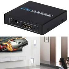 1 INPUT 2 OUTPUT HDMI SPLITTER 2 WAY SWITCH BOX Hub SUPPORTS FULL 4K HD 3D 1080P