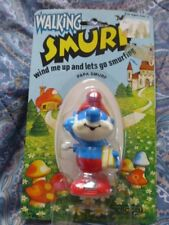 NEW wind up Papa Smurf toy vintage 80's