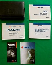 2005 05 Suzuki Verona Owners Manual Near New E21C