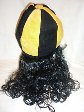 PITTSBURGH TAILGATE PARTY HAT WIG COMBO *** FREE SHIP ***