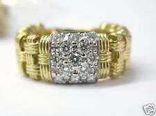 Roberto Coin Yellow Gold Diamond Ring 0.58CT 18KT Size 6