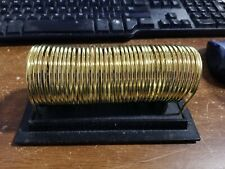 Vintage Brass Plated Check Caddy - 6""