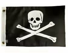 12 X 18 Jolly Roger Flag No Eye Patch boat/bike