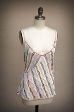 MISSONI M Italy Size 12/14 Semi Sheer Perforated  Knit Cami