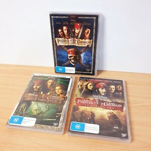 Pirates of the Caribbean 1, 2 and 3 DVD Region 4 PAL