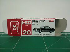 REPRODUCTION BOX for Tomica Red Box No.20 Nissan Skyline
