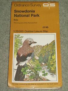 OS Ordnance Survey Outdoor Leisure: Snowdonia National Park: Bala - 1978