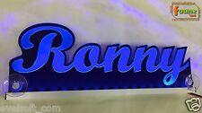 "LED LKW Truck Leuchtschild ""Ronny"" Ihr Wunschname 12 o. 24V blau ©faunz"