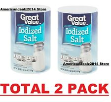 New listing Great Value Iodized Salt, 26 oz, Total 2 Pack!