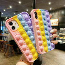 Push Pop it Bubble Phone Cover For iPhone 7/8 11/12 Pro XR Fidget Silicone Case