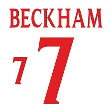 Beckham 7. England Home football shirt 1999 - 2001 FLOCK NAMESET NAME SET