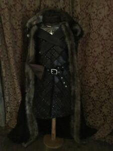 Game Of Thrones Jon Snow Season 7 Stark Armor Cloak Gorget Costume