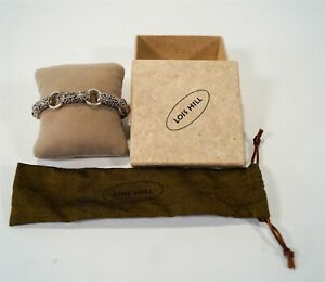 "NWT & Box Lois Hill 925 Sterling Artisan 8"" Toggle Bracelet 39g"