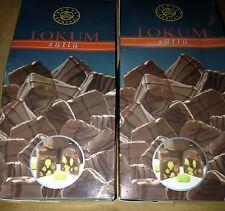Sutlu Cikolata Kapli Antep Fistikli Lokum 250gr *2:500g KAHVE DUNYASI  Turkish