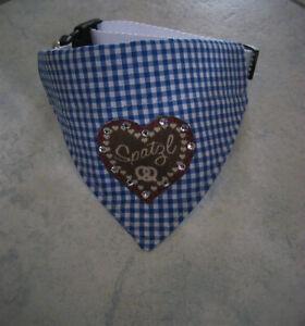 Halsbandlänge verstellbar 32-42 cm Hundehalstuch Halstuch Hundebekleidung Tracht