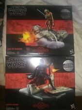 Star Wars The Black Series Centerpiece Darth Vader and Luke 6 Inch Statues (NM)