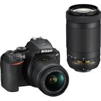 Nikon D3500 24.2MP DSLR Camera with 18-55mm & 70-300mm Lenses
