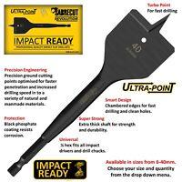 SabreCut Impact Driver Rated Flat Wood Spade Drill Bits For Bosch Dewalt
