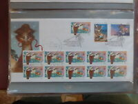 AUSTRALIA 1990 CHRISTMAS BUSH NATIVITY SET 3 STRIP 10 STAMPS FDC FIRST DAY COVER