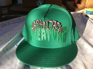 CREATURE Skateboards Hesh Crew Logo Green SnapBack Hat Skate Cap