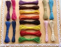 Waxed Cotton Cord 16 Mixed Colours 24 to 48 Meters 1mm Width