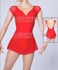 New red girl's women's Figure Skating Dress Women's Skating Dress