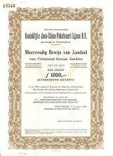 NEDERLAND- JAVA-CHINA--LINE -AANDEEL 3000. X  1956 =SPECIMEN = ( de BUSSY)