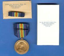 WW1 US PENNSYLVANIA GUARDS MEDAL / ORIGINAL BOX AND RIBBON BAR