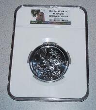 2012 5 Oz Silver 25c El Yunque Early Releases NGC Gem Uncirculated Puerto Rico