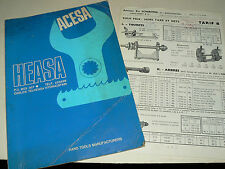 Catalogue outillage ACESA HEASA + tarif SOMBORN Outil brochure prospekt Tools