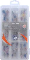 South Bend 50 pc Fly fishing kit box wet dry nymph caddis streamer flies SBFLY50