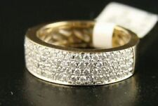 Anillos de joyería con diamantes naturales de oro amarillo pera