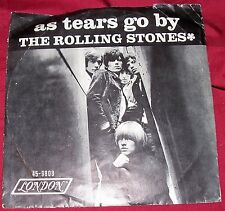 Rolling Stones 45 Record As Tears Go By Gotta Get Away Single London Lon 9808 7""