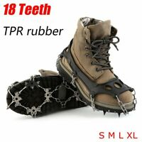 18 Teeth Anti-Slip Ice Snow Hiking Climbing Shoe Spike Cleats Crampons Gripper