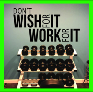 Don't Wish Gym Workout Motivation Words Wall Decal Fitness Sport Sticker Decor