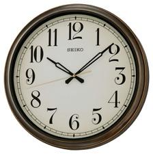 "*BRAND NEW* Seiko 16"" Splash Resistant Outdoor Wall Clock QXA548BLH"