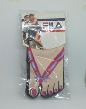 Fila Ladies Sexy Socks In Pink & Lilac Ribbon ~ One Size Brand New