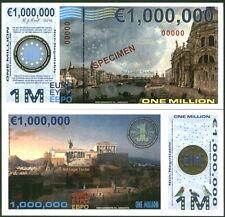 SPECIMEN POLYMER 1 MILLION (1000000) EURO 2015 ACROPOLIS FANTASY ART NOTE!