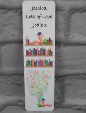 PERSONALISED Metal BOOKMARK with Name and Message