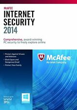 McAfee Internet Security 2014 3 Users PCs Retail Box 1 year upgrade 2 2018
