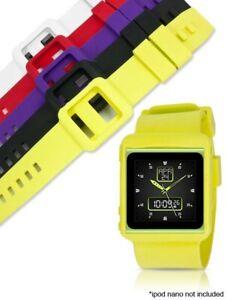 White Silicone Watch Band Wrist Strap Cover Case Apple iPod Nano 6th generation