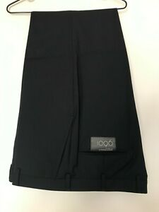 Business Casual WOOL POLY MEN'S 36'' Inch Pants Trousers- NAVY
