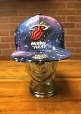 NBA Mitchell & Ness Miami Heat Galaxy Snapback Cap Hat Wool