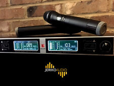 NEW PRO 2 DUAL CHANNEL UHF WIRELESS HANDHELD MCIROPHONE MIC SYSTEM CHURCH BAND