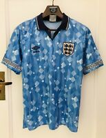 Vintage England Made In 1990 Football Shirt 3rd Strip Size S Umbro RARE!