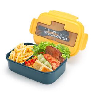 2 Fächer Brotdose Brotbox Kindergarten Frühstücksdose Schule Lunchbox, 1100ML